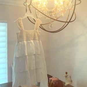 Other - Lace and Linen handmade dress perfect condition